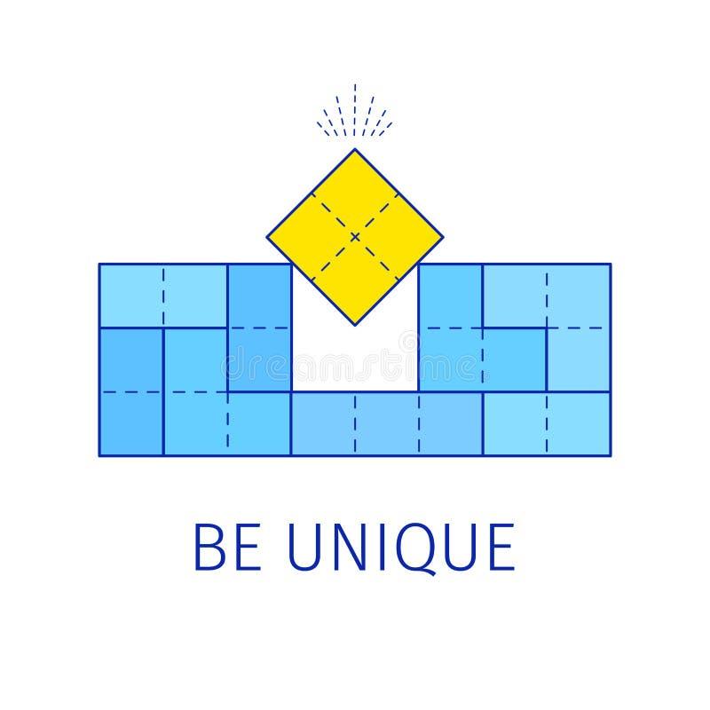 Sea concepto único con formas de los tetris Ilustración del vector stock de ilustración