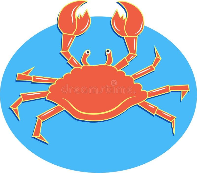Sea crab royalty free illustration