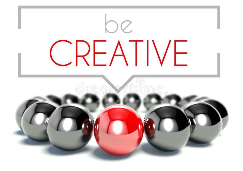 Sea creativo, concepto único del negocio ilustración del vector