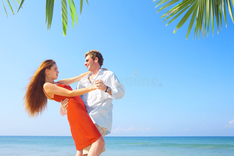 Sea and dance royalty free stock photo