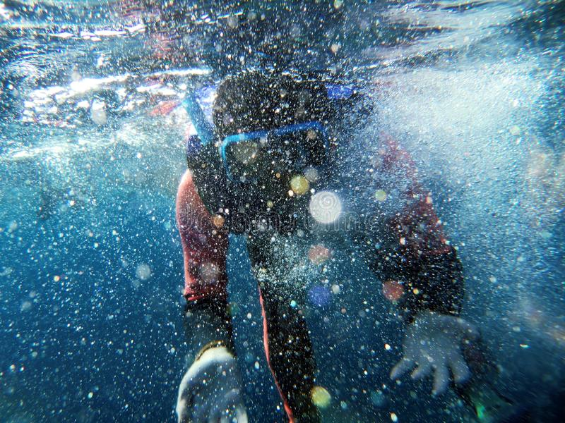 Download A sea divers and foam stock photo. Image of scuba, okay - 30773716