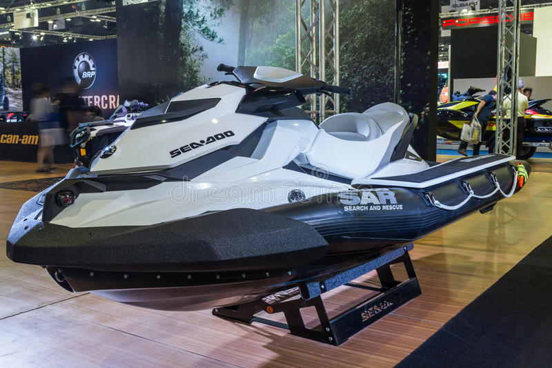Sea-Doo Search and Rescue (SAR) Watercraft showed in Thailand th stock photo
