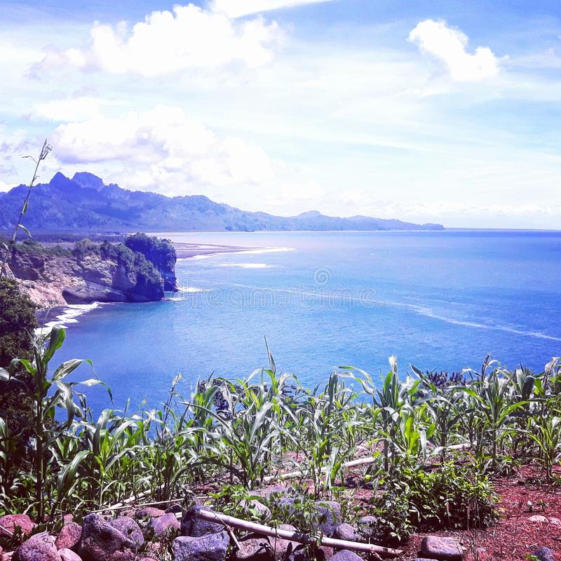Sea in east java royalty free stock images
