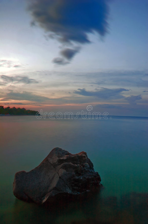 The sea in evening time royalty free stock photos