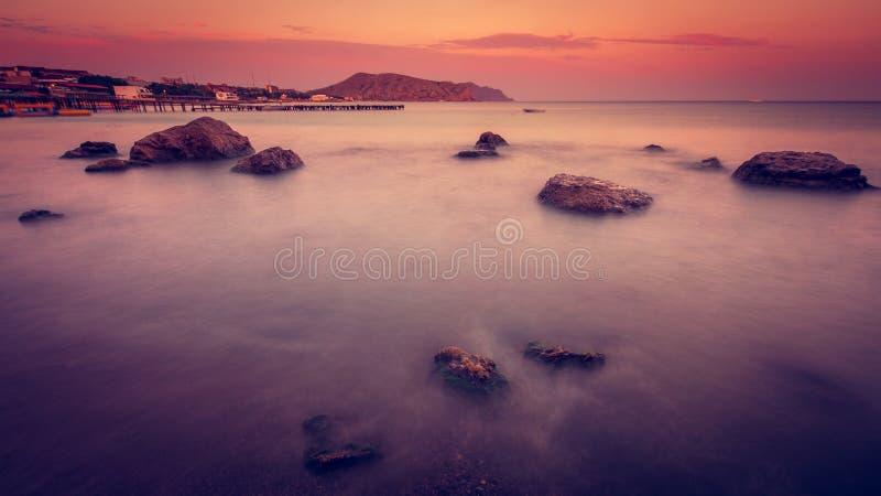 Sea evening stock photos