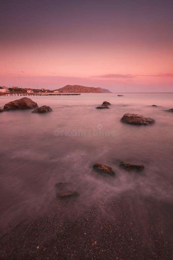 Sea evening royalty free stock photo