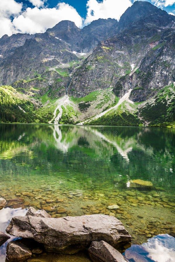 Sea eye Tatras stock photography