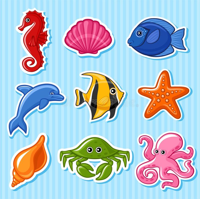 Sea fauna. There is a format stock illustration