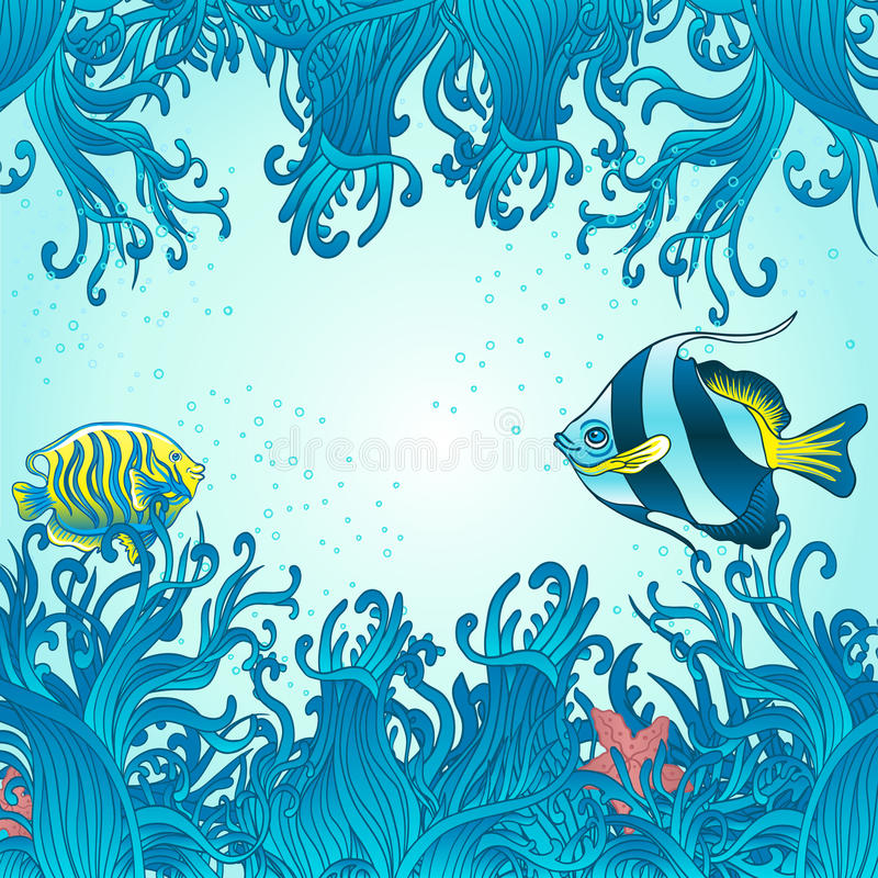 Download Sea fish background stock vector. Image of copy, frame - 26262259
