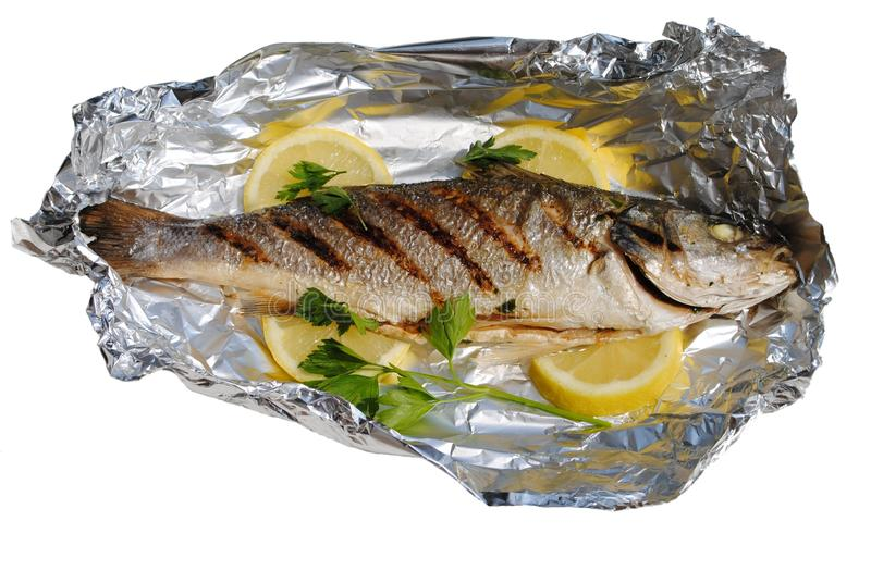 Sea Fish Cocked In A Wrapper Stock Images