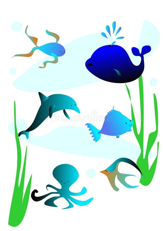 sea fish stock illustration illustration of dolphin 31711927 rh dreamstime com Bluegill Fish Species of Bream Fish