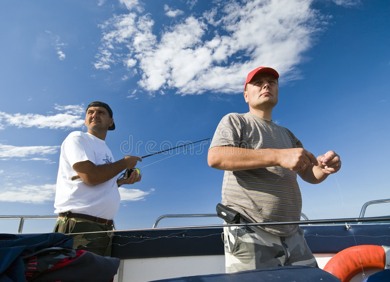 Download Sea Fishermen Looking Ahead Stock Photo - Image of stare, concerned: 6057974