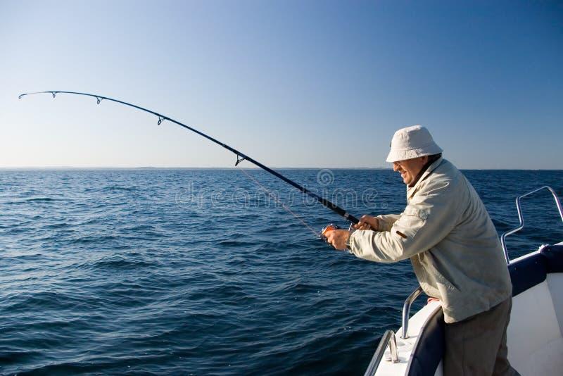 Sea fishing. stock photos