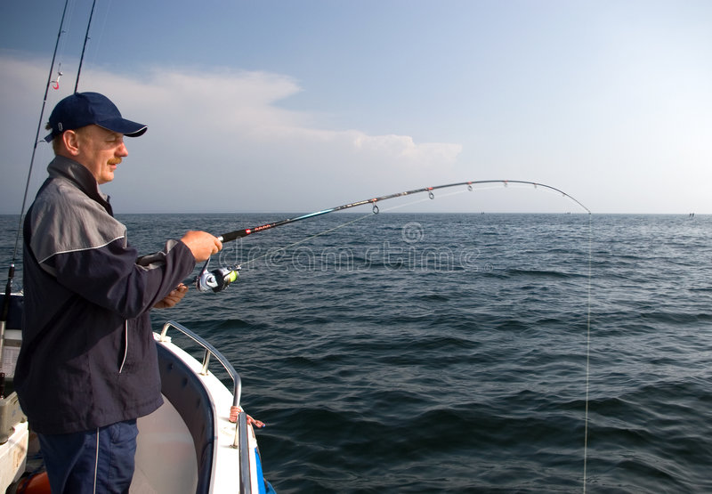 Download Sea fishing. stock image. Image of hooked, curve, blouse - 2494747