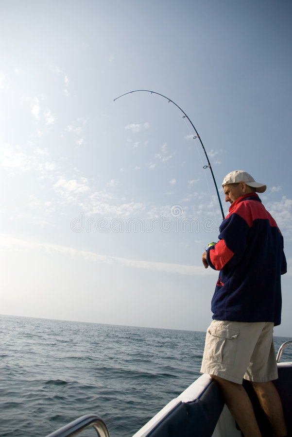 Download Sea fishing. stock image. Image of catching, angling, fish - 2495215