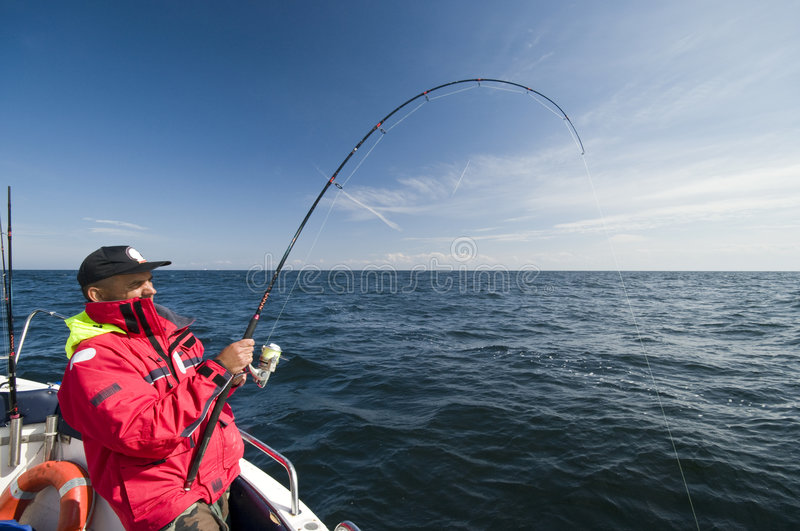 Download Sea fishing stock image. Image of catching, middle, presenting - 6152049