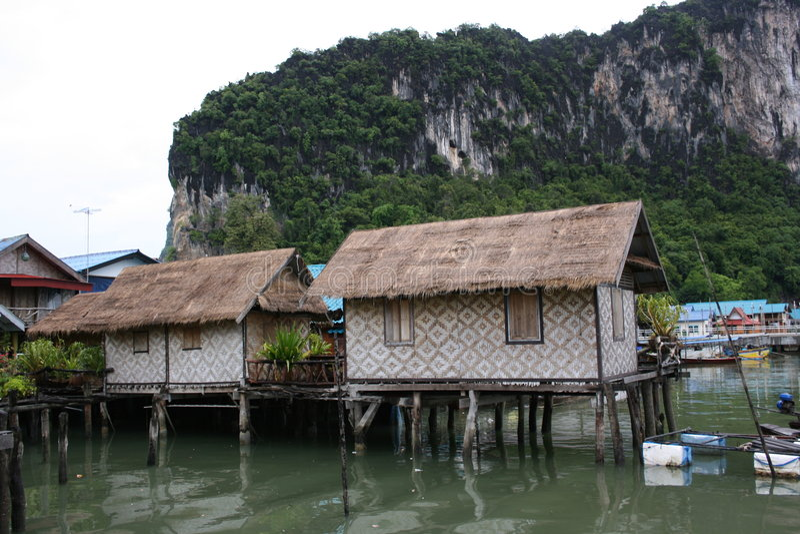 Sea Fishing Village Royalty Free Stock Photos