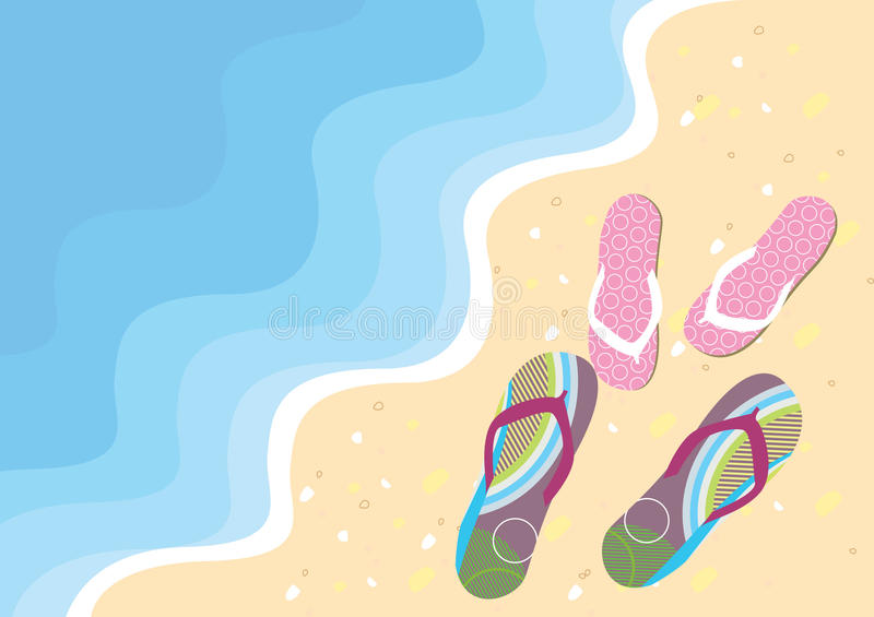 Sea and flip-flops. royalty free stock photos