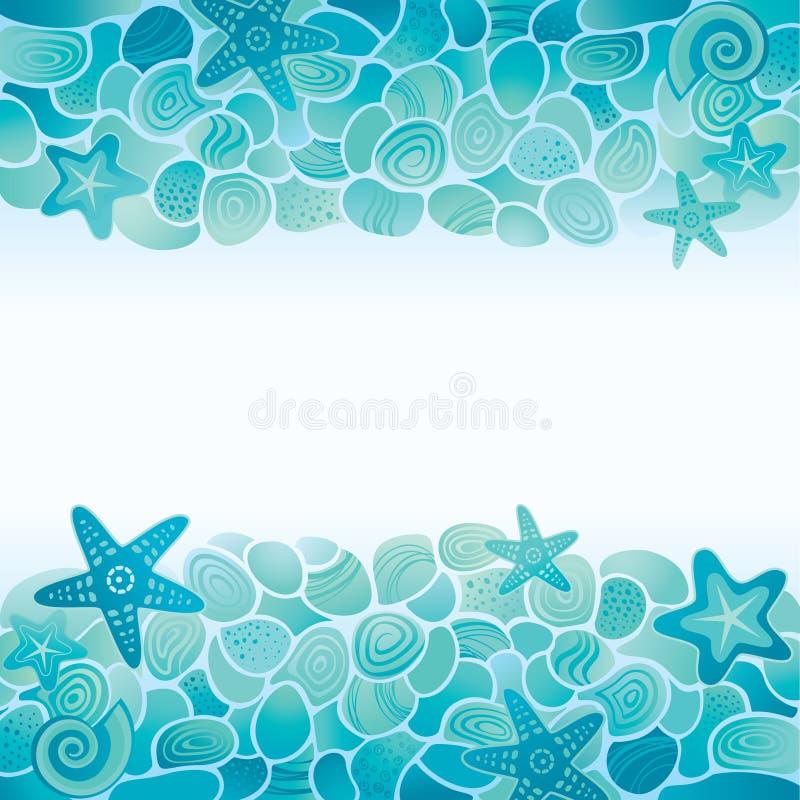 Sea floor card vector illustration