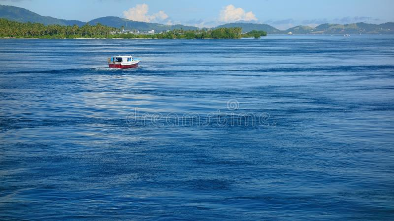 Marine flow. Sea flow in the Pacific Ocean at Mindanao Island, Philippines royalty free stock photo