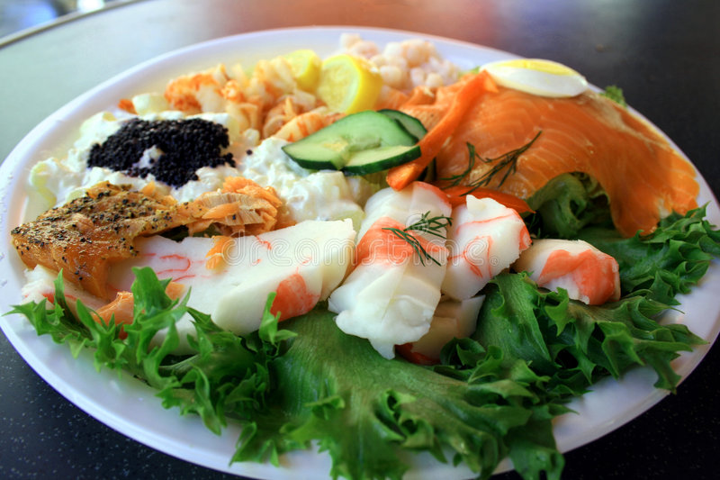 Sea food plate royalty free stock images
