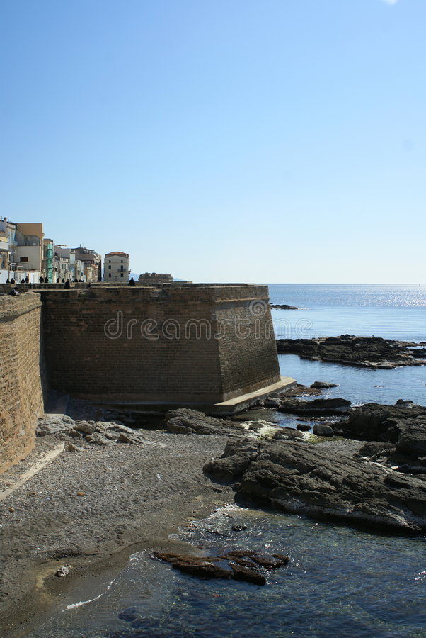 Sea and fortification stock photos