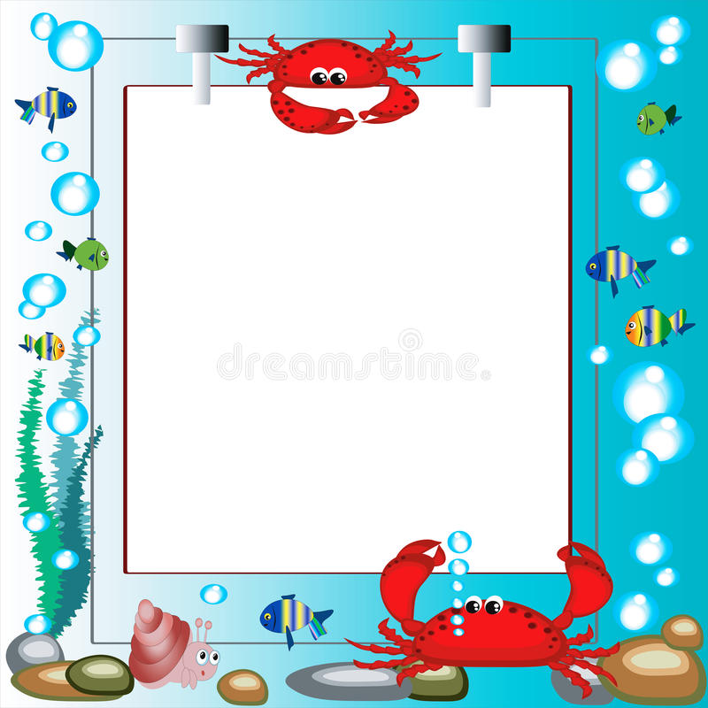 Download Sea frame stock vector. Image of fauna, emotion, bubble - 14731599