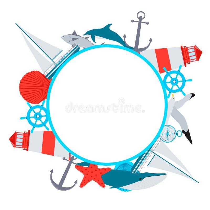 Sea Frame stock illustration