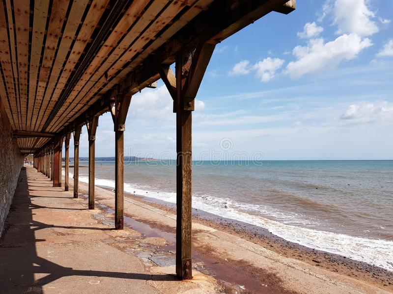 Sea front in Dawlish, United Kingdom. Sea front in , united kingdom. beach, tree, dune, coast, poland, water, , summer, cornwall, clouds, sun, seascape stock photography