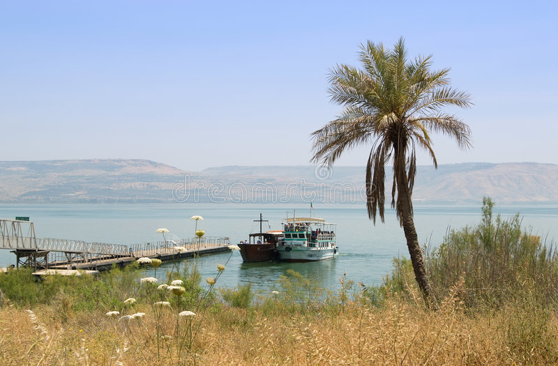By the Sea of Galilee stock photos