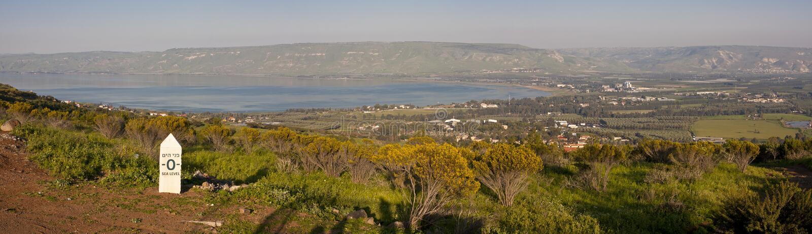 Sea of Galilee Panorama royalty free stock photography