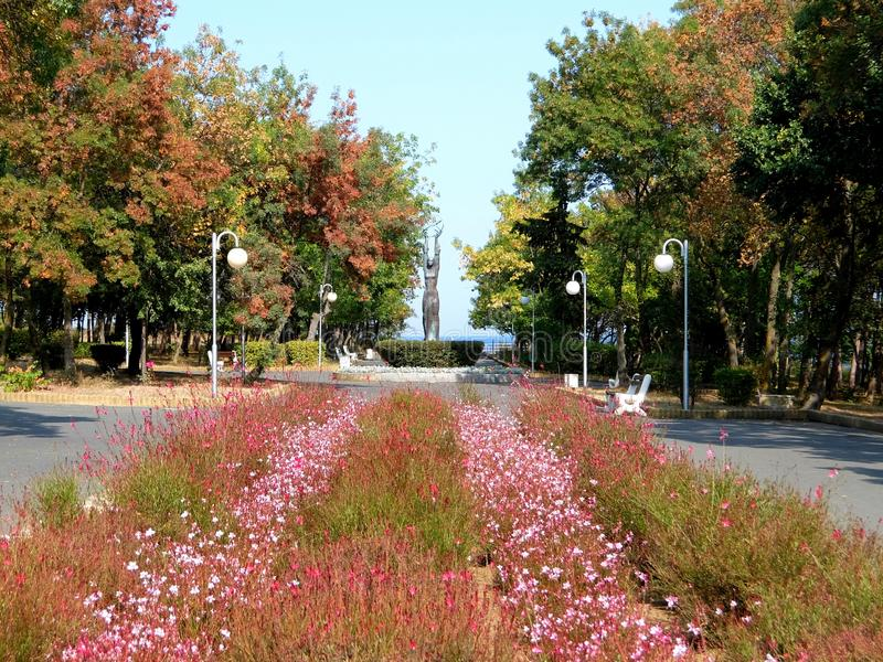The Sea Garden in Tsarevo. Sea garden in Tsarevo on black sea royalty free stock photo