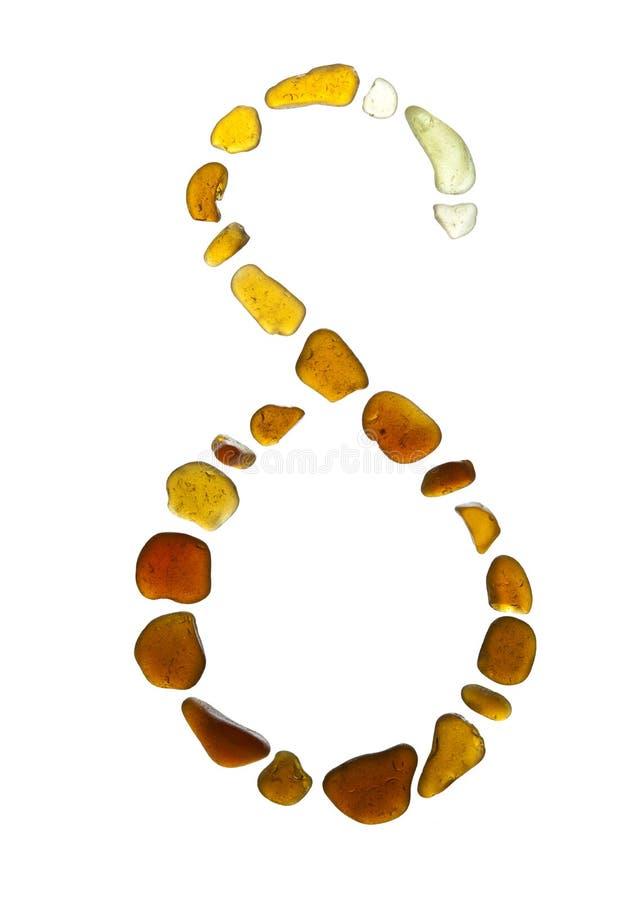 Sea glass symbol. Greek letter delta on white background stock image