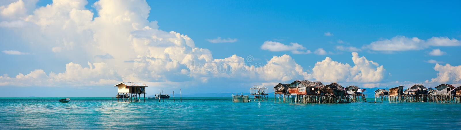 Download Sea gypsy village stock image. Image of tropical, residence - 24277391
