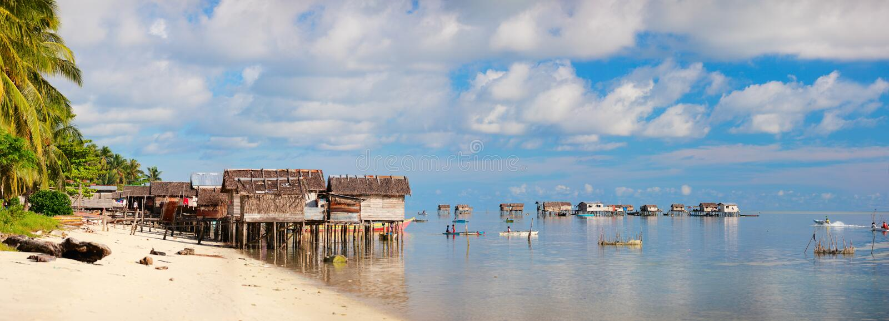 Sea Gypsy Village Stock Photo