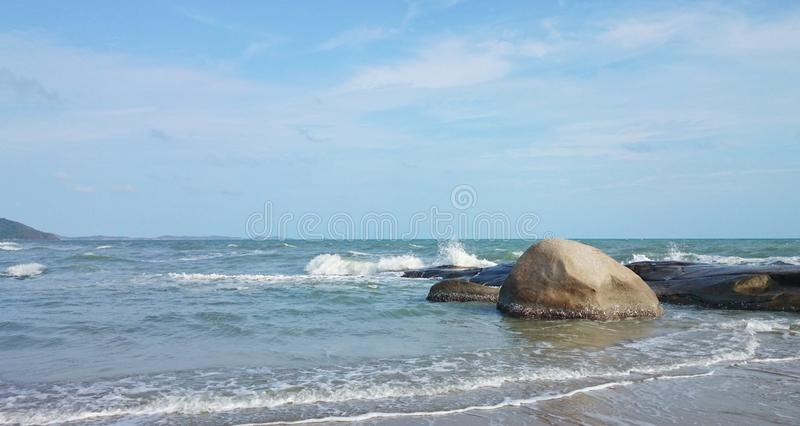Download The  sea have waves stock photo. Image of cloud, waves - 42743254