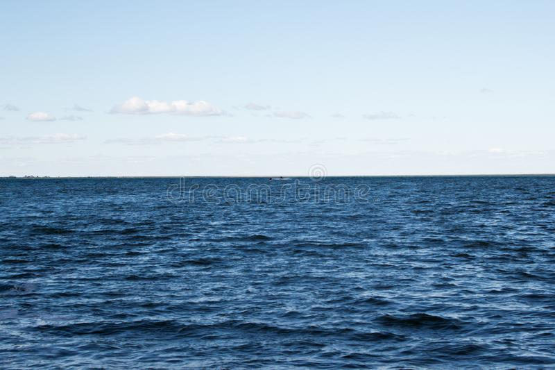 Horizon line. The sea and the horizon line royalty free stock images
