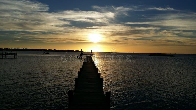 Sea, Horizon, Sky, Sunset stock images