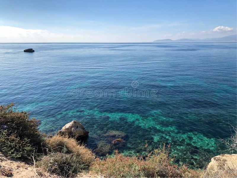 Sea horizont. Sea view with the horizont royalty free stock photography