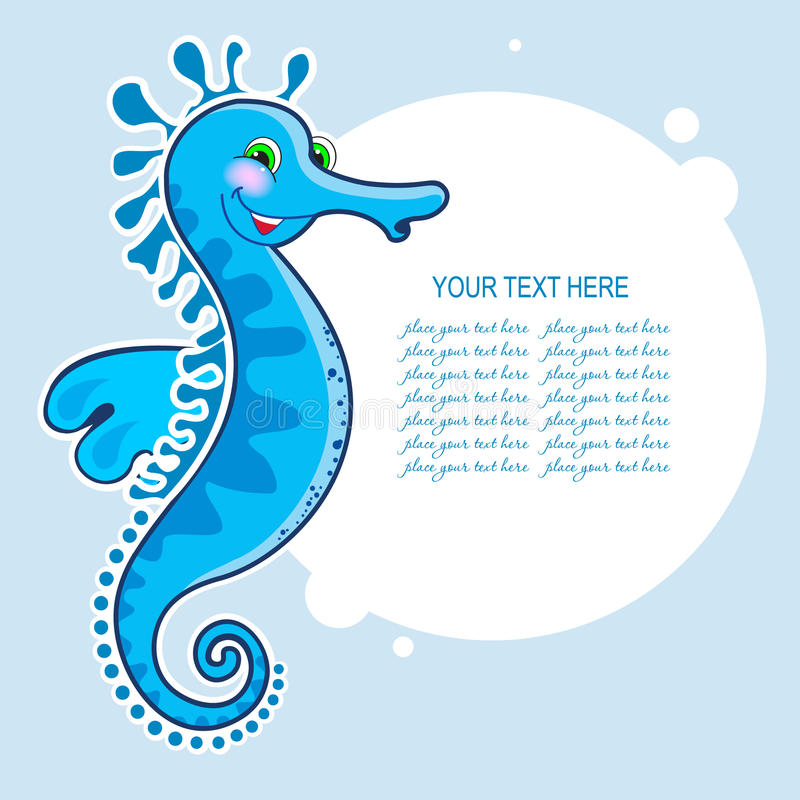 Free Sea Horse With A Banner Royalty Free Stock Image - 33159756