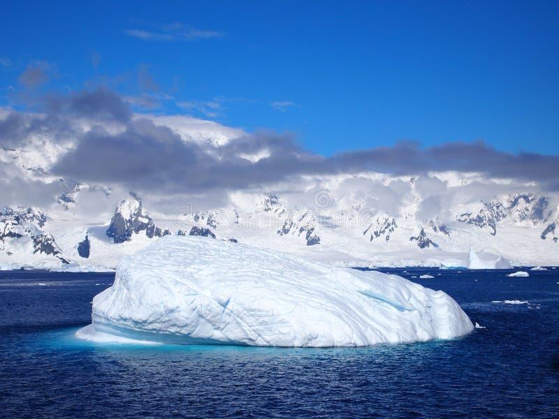Sea and Ice near mountains off western antarctic peninsula