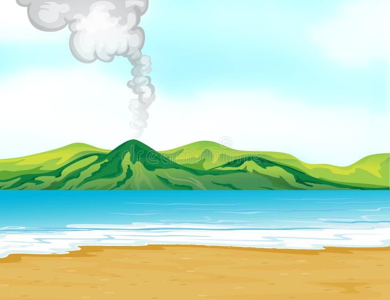 The sea. Illustration of the blue sea royalty free illustration