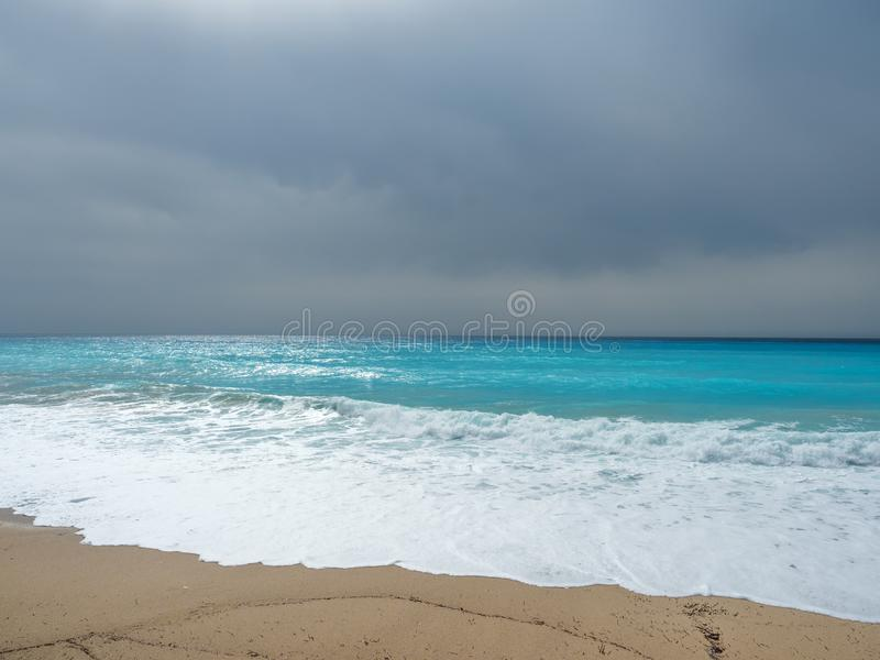 The sea of the Ionian islands. In Greece royalty free stock image