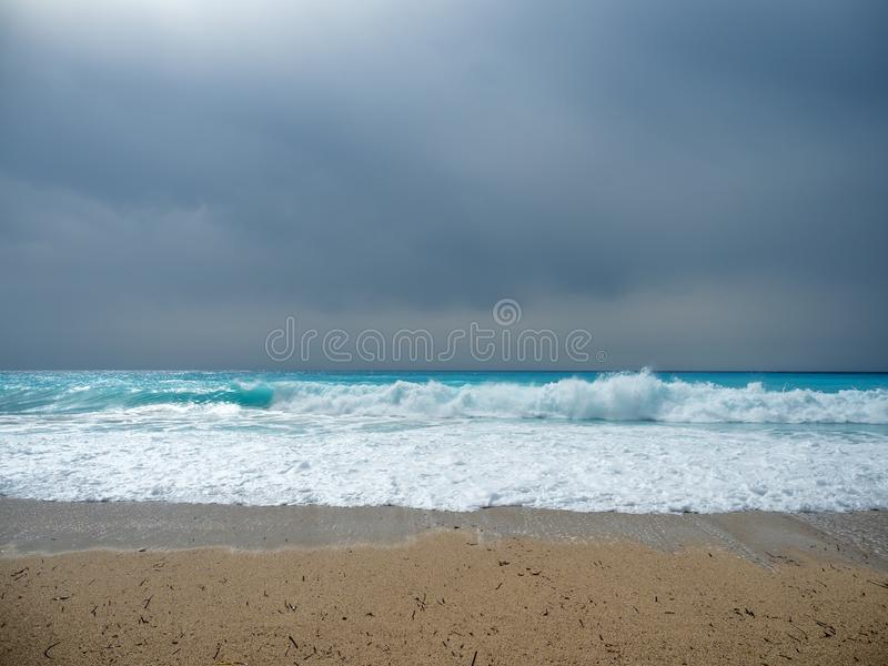 The sea of the Ionian islands. In Greece royalty free stock photo