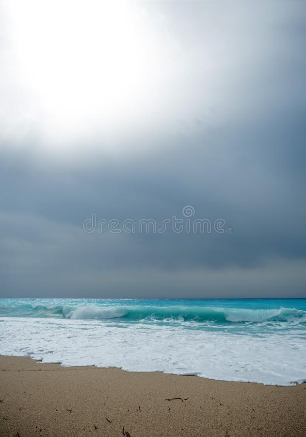 The sea of the Ionian islands. In Greece stock photo