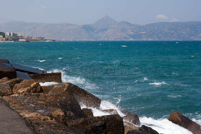 The sea on the island of Crete royalty free stock images