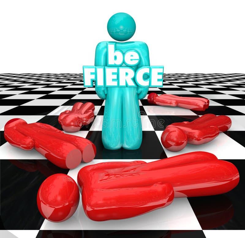 Sea juego atrevido intrépido feroz de los triunfos del jugador del tablero de ajedrez stock de ilustración