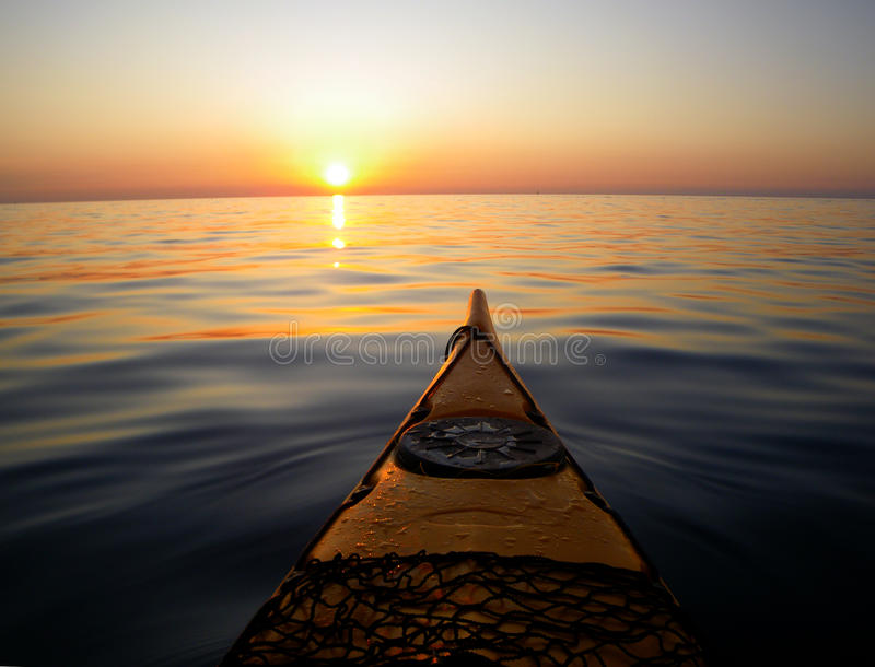 Sea kayak stock photo