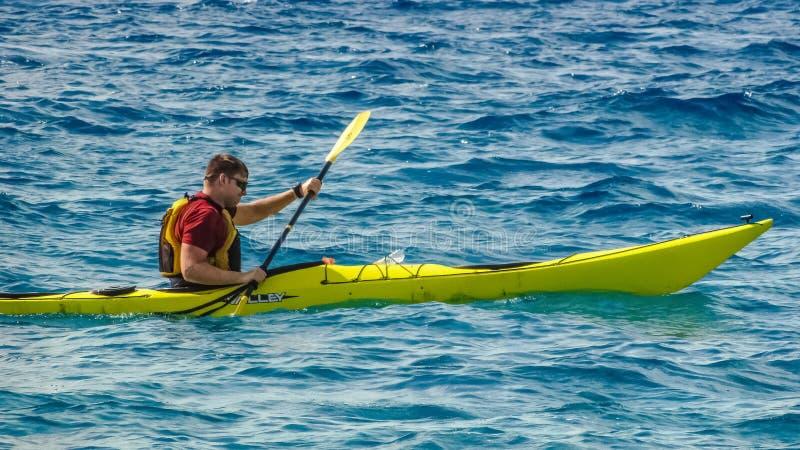 Sea Kayak, Boat, Water Transportation, Kayak royalty free stock image