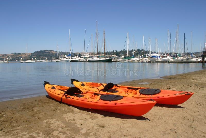 Sea Kayaks Stock Photos